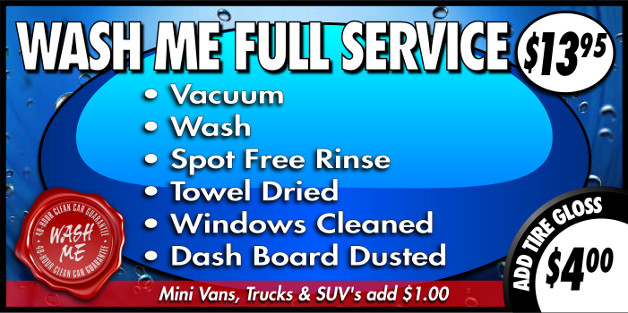 Full Service Wash Package at $13.95